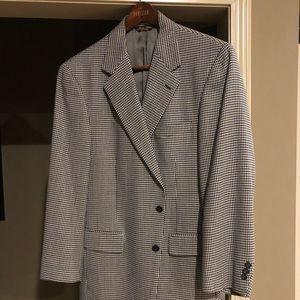 BROOKS BROTHERS Wool Black/White Sport Coat 42 Reg